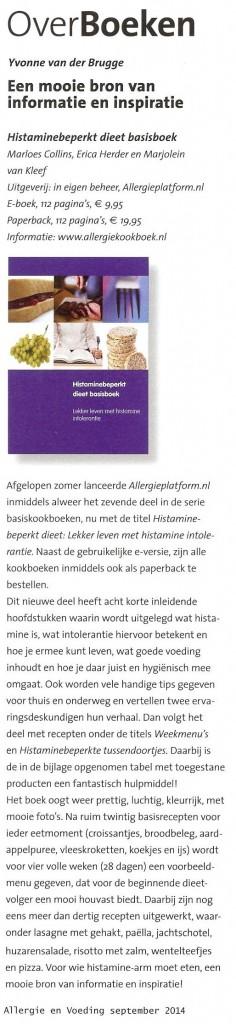 histamine beperkt dieet pdf